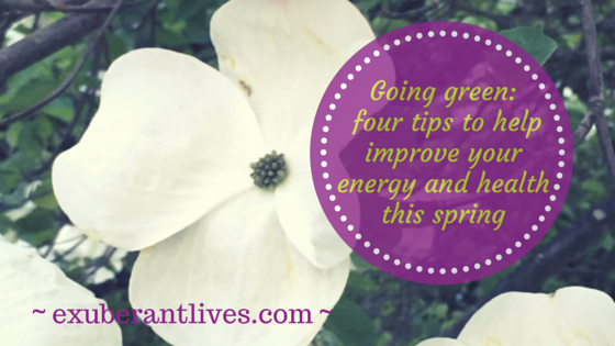 Going green: four tips to help improve your energy and health this spring